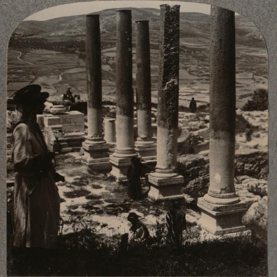 'Harod's Street of Columns, Samaris', c1900-Unknown-Photographic Print