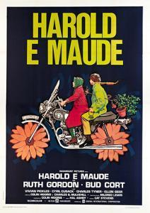 Harold and Maude, Italian poster, Ruth Gordon, Bud Cort, 1971