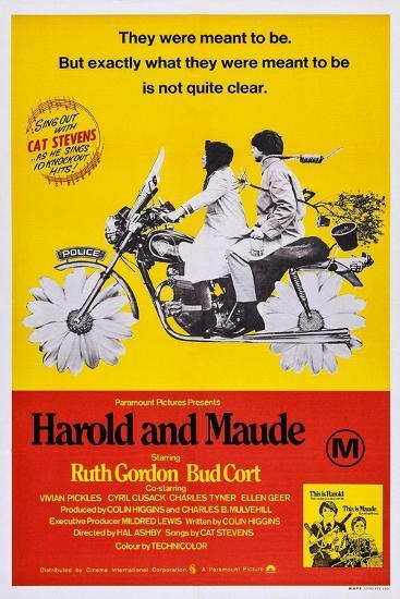 Harold and Maude, Ruth Gordon, Bud Cort, 1971--Art Print