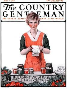 """""""Pleasant View Farms,"""" Country Gentleman Cover, July 11, 1925 by Harold Brett"""