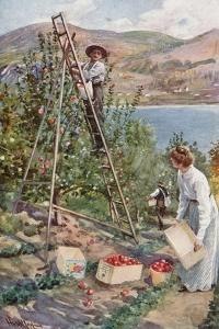 A Fruit Ranch at Nelson, British Columbia by Harold Copping