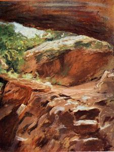 Cave at Endor in the Holy Lane c1910 by Harold Copping