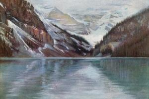 Lake Louise, the Lake in the Clouds by Harold Copping