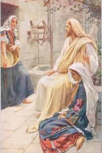 Martha and Mary, Illustration from 'Women of the Bible', Published by the R by Harold Copping