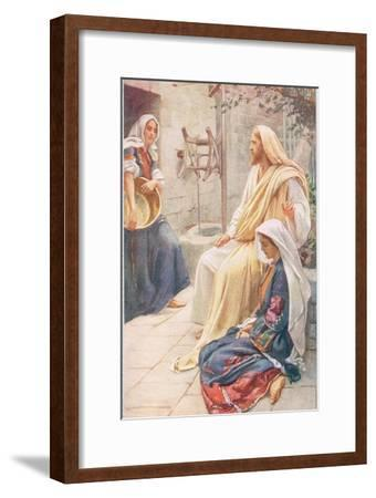 Martha and Mary, Illustration from 'Women of the Bible', Published by the R