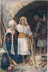 Mary and Jesus, Illustration from 'Women of the Bible', Published by the Religious Tract Society,… by Harold Copping