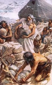 Noah Building His Altar by Harold Copping