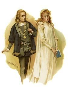 Prince Hamlet addresses Ophelia strangely by Harold Copping