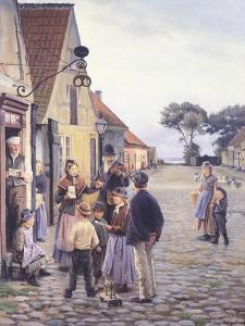 Scenes of Everyday Life in Kerteminde, 1901 by Harold Copping