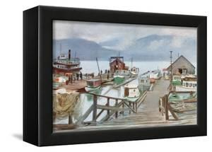 The Fish Market, Vancouver, the Mosquito Fleet by Harold Copping