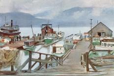The Fish Market, Vancouver, the Mosquito Fleet-Harold Copping-Giclee Print