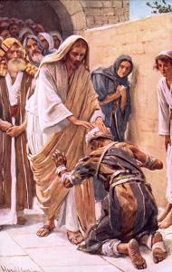 The Healing of the Leper by Harold Copping
