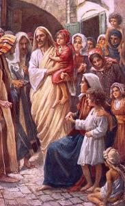 The Lord Blessing the Children by Harold Copping