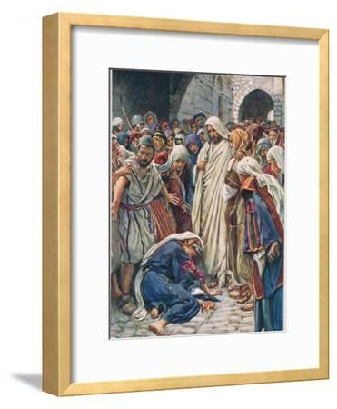 The Woman Who Touched the Hem of His Garment, Illustration from 'Women of t