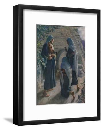 The Women at the Sepulchre, Illustration from 'Women of the Bible', Published by the Religious…