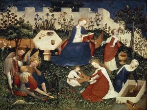Virgin in Garden of Paradise, Circa 1420 by Harold Copping