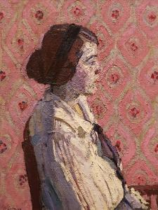 A Portrait in Profile: Mary L by Harold Gilman