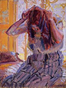 Girl Combing Her Hair by Harold Gilman