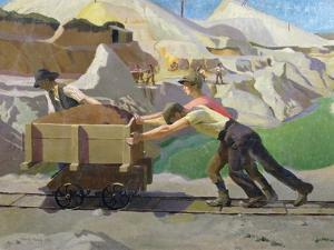 The Clay Pit, 1923 by Harold Harvey