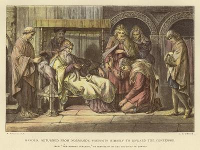Harold, Returned from Normandy, Presents Himself to Edward the Confessor-Daniel Maclise-Giclee Print