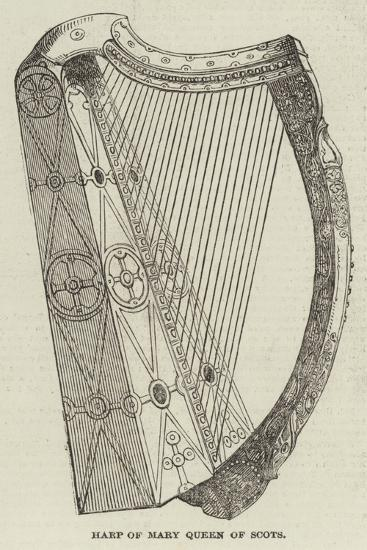 Harp of Mary Queen of Scots--Giclee Print