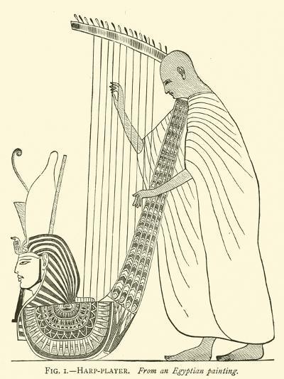 Harp-Player--Giclee Print