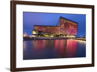 Harpa Concert Hall and Conference Centre in Reykjavik, Iceland, Polar Regions-Chris Hepburn-Framed Photographic Print