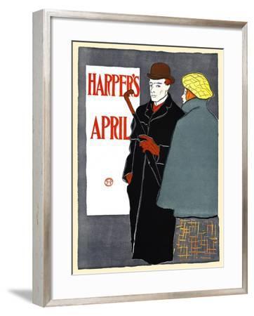 Harper's April-Edward Penfield-Framed Art Print