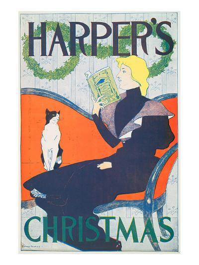 Harper's Christmas-Edward Penfield-Art Print