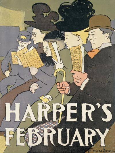 Harper's February, 1897-Edward Penfield-Giclee Print