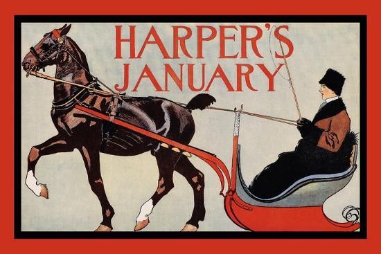 Harper's January-Edward Penfield-Art Print