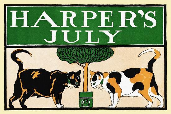 Harper's July-Edward Penfield-Art Print