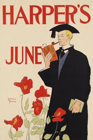 Harper's June-Edward Penfield-Art Print