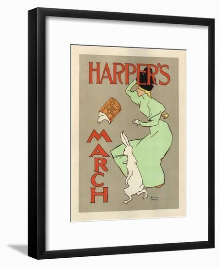 Harper's March, 1894-Edward Penfield-Framed Premium Giclee Print
