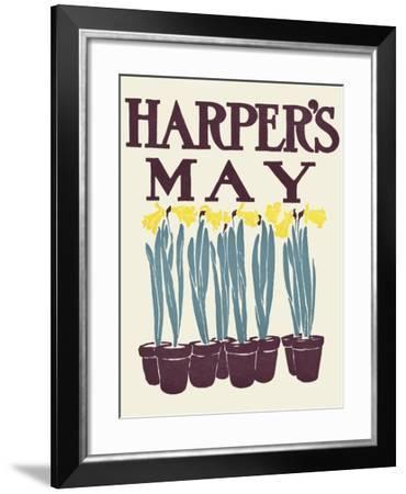 Harper's May-Edward Penfield-Framed Art Print