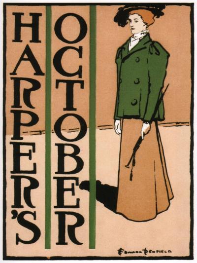 Harper's October, 1895-Edward Penfield-Giclee Print