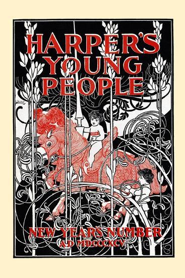 Harper's Young People, New Year's Number-Will Bradley-Art Print