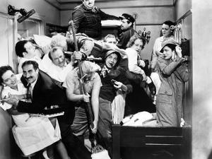 "Harpo Marx, the Marx Brothers, Chico Marx, Groucho Marx. ""A Night At the Opera"".1935, by Sam Wood"