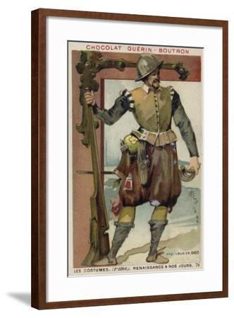 Harquebusier, 1560--Framed Giclee Print