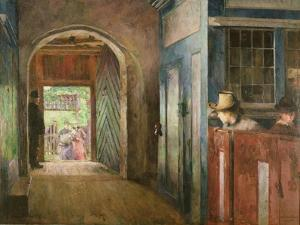 Christening in Tanum Church, 1892 by Harriet Backer