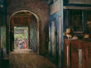 Christening in Tanum Church by Harriet Backer