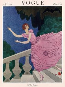 Vogue Cover - July 1921 by Harriet Meserole