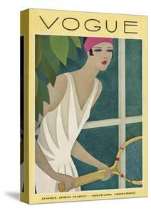 Vogue Cover - July 1927 by Harriet Meserole