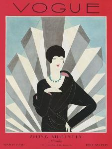 Vogue Cover - March 1927 by Harriet Meserole