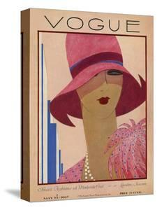 Vogue Cover - May 1927 by Harriet Meserole