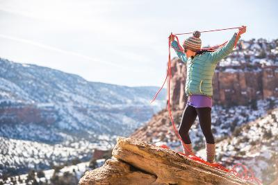 Harriet Ridley Coils A Line In Escalante Canyon, CO-Dan Holz-Photographic Print