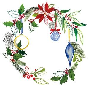 Christmas Wreath V by Harriet Sussman