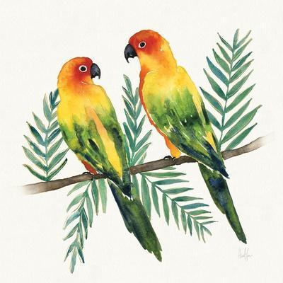 Tropical Fun Bird III Leaves