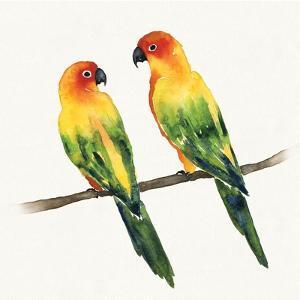 Tropical Fun Bird III by Harriet Sussman