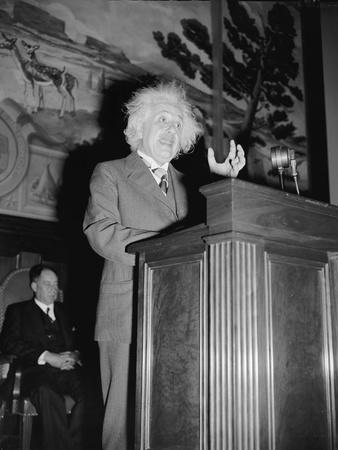 Albert Einstein speaking, c.1940